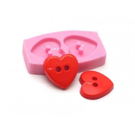 Moule boutons coeur en silicone  - 2