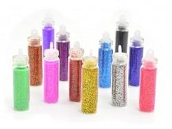 Acheter lot de 12 fioles remplies de poudre de paillettes - 5,50€ en ligne sur La Petite Epicerie - 100% Loisirs créatifs