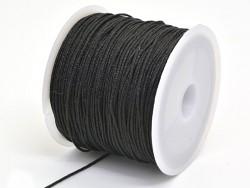 35 m de fil de jade / fil nylon tressé 1 mm - noir  - 1