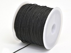 35 m of braided nylon cord, 1 mm - black