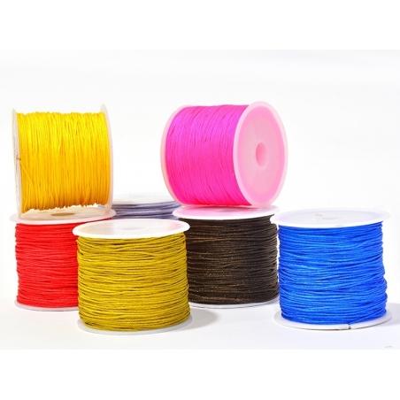 Acheter 35 m de fil de jade / fil nylon tressé 1 mm - blanc cassé - 5,99€ en ligne sur La Petite Epicerie - Loisirs créatifs