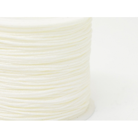 35 m of braided nylon cord, 1 mm - off-white