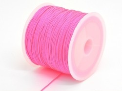 35 m of braided nylon cord, 1 mm - neon pink