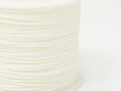 1 m geflochtene Nylonschnur, 1 mm - weiß