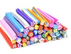 Set of 50 different Fimo canes