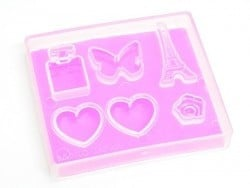 "PADICO ""I love Paris"" mould - transparent"