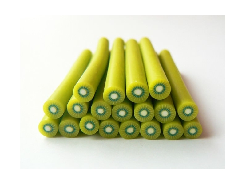 Cane kiwi - en pâte polymère  - 10