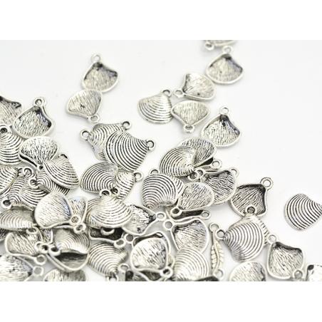 Acheter 1 Breloque coquillage palourde - argenté foncé - 0,19€ en ligne sur La Petite Epicerie - Loisirs créatifs