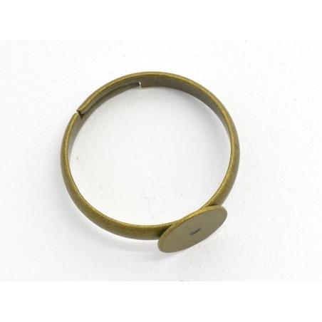 Acheter 1 support de bague bronze - 0,89€ en ligne sur La Petite Epicerie - Loisirs créatifs