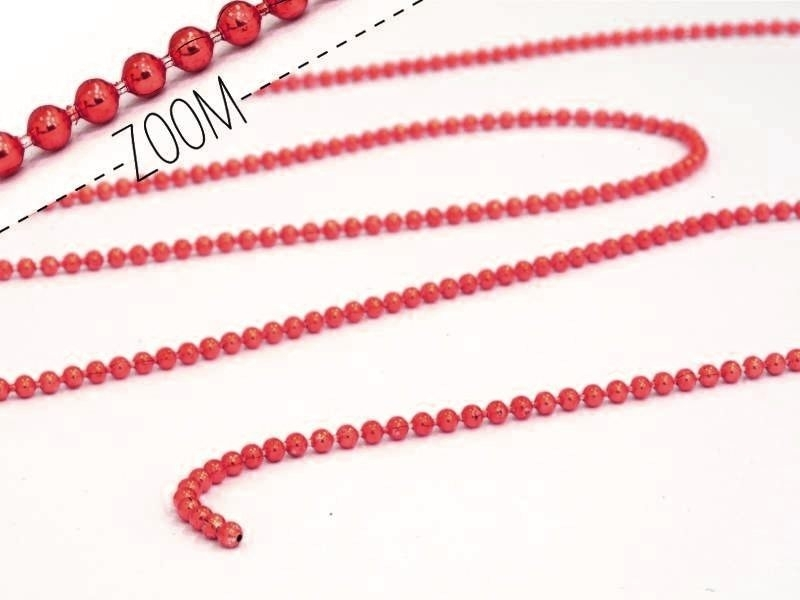 Shiny burgundy ball chain (1 m) - 1.5 mm