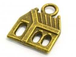 1 house charm - bronze-coloured