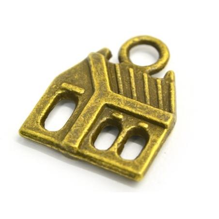 Acheter 1 Breloque maison - couleur bronze - 0,29€ en ligne sur La Petite Epicerie - Loisirs créatifs