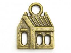 1 Breloque maison - couleur bronze