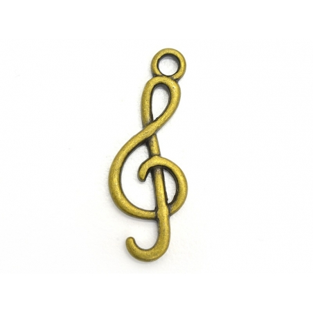 1 G-clef charm - bronze-coloured