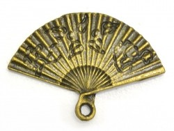 1 fan charm - bronze-coloured