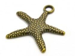 1 Breloque étoile de mer - couleur bronze  - 1