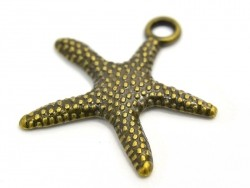 1 starfish charm - bronze-coloured