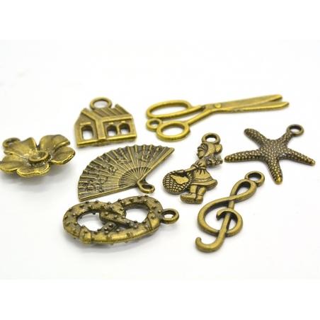 1 starfish charm - bronze-coloured
