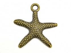 1 Seesternanhänger - bronzefarben