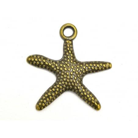 1 Breloque étoile de mer - couleur bronze  - 2