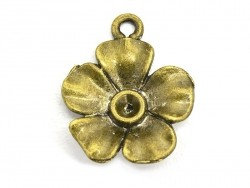 1 flower charm- bronze-coloured
