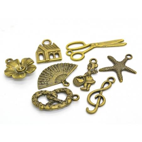 1 scissors charm - bronze-coloured