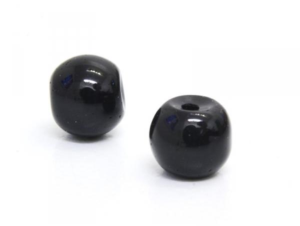 Acheter 50 perles en verre rondes 4 mm - noir - 0,99€ en ligne sur La Petite Epicerie - Loisirs créatifs