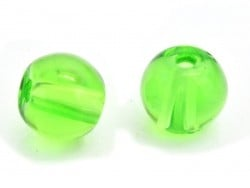 50 round glass beads, 4 mm - bottle green