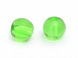 50 perles en verre rondes 4 mm - vert bouteille