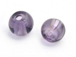 50 perles en verre rondes 4 mm - prune