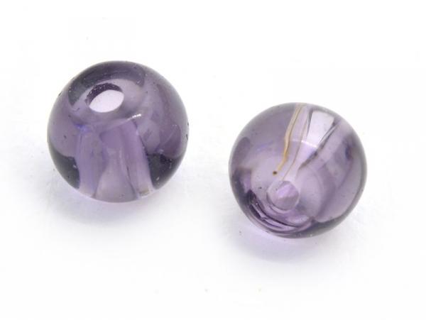 Acheter 50 perles en verre rondes 4 mm - prune - 0,99€ en ligne sur La Petite Epicerie - Loisirs créatifs