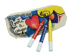 6 Textilstifte für helle Stoffe - Pébéo