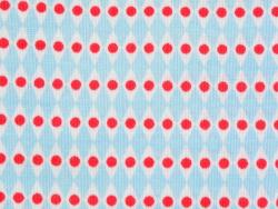 Coupon tissu à motifs - Perles bleu fuchsia