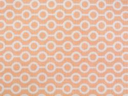 Coupon tissu à motifs - Perles saumon