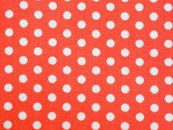 Coupon tissu à motifs - Rouge pois blanc