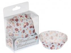 60 cupcake cases (6 cm) - mushrooms