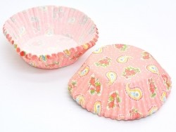 60 cupcake cases (6 cm) - Paisley pattern