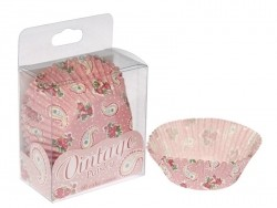 60 cupcake cases (6 cm) - Paisley pattern