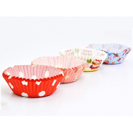 72 cupcake cases (6 cm) - red polka dots