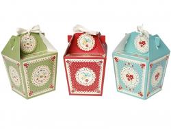 3 Geschenkschachteln im Vintagedesign + Anhänger