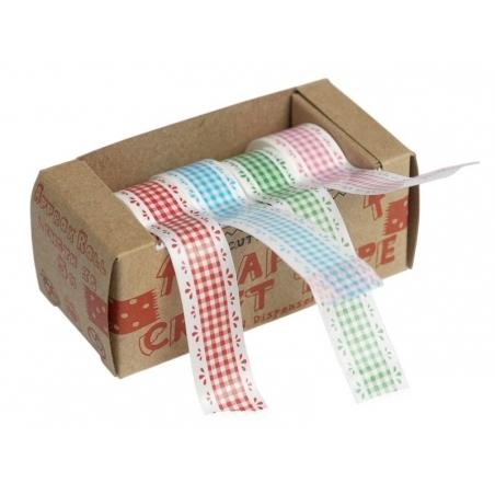Dévidoir 4 Masking tape - motif vichy vintage Masking Tape - 1