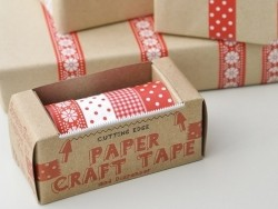 Dispenser and 4 masking tapes - Scandinavian pattern