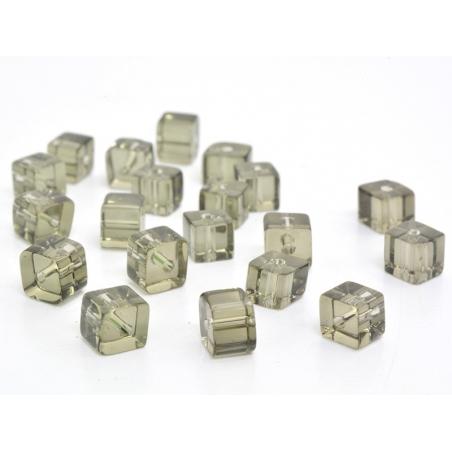 Acheter 20 perles cubes en plastique 4 mm- gris - 0,59€ en ligne sur La Petite Epicerie - Loisirs créatifs