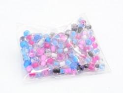 200 perles de rocailles 4 mm  - couleurs estivales