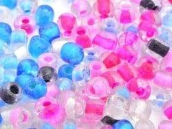 200 perles de rocailles 4 mm  - couleurs estivales  - 1