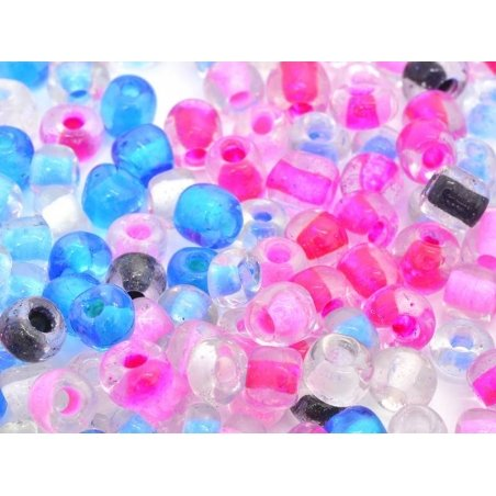 200 rocaille beads, 4 mm - summer colours