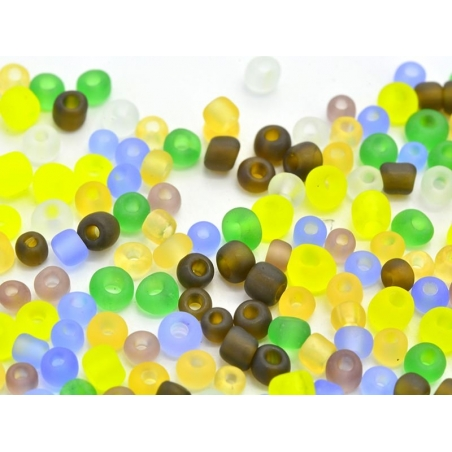 200 rocaille beads, 2 mm - autumn colours