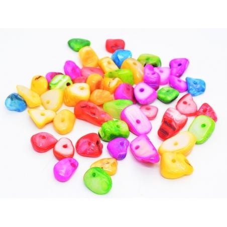 Acheter 50 perles coquille chips - multicolores - 1,99€ en ligne sur La Petite Epicerie - Loisirs créatifs