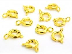 10 end caps, 6 mm - golden