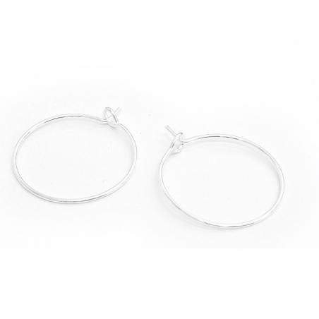 Acheter 10 paires de boucles d'oreilles créoles 20 mm - couleur argenté clair - 3,40€ en ligne sur La Petite Epicerie - Lois...